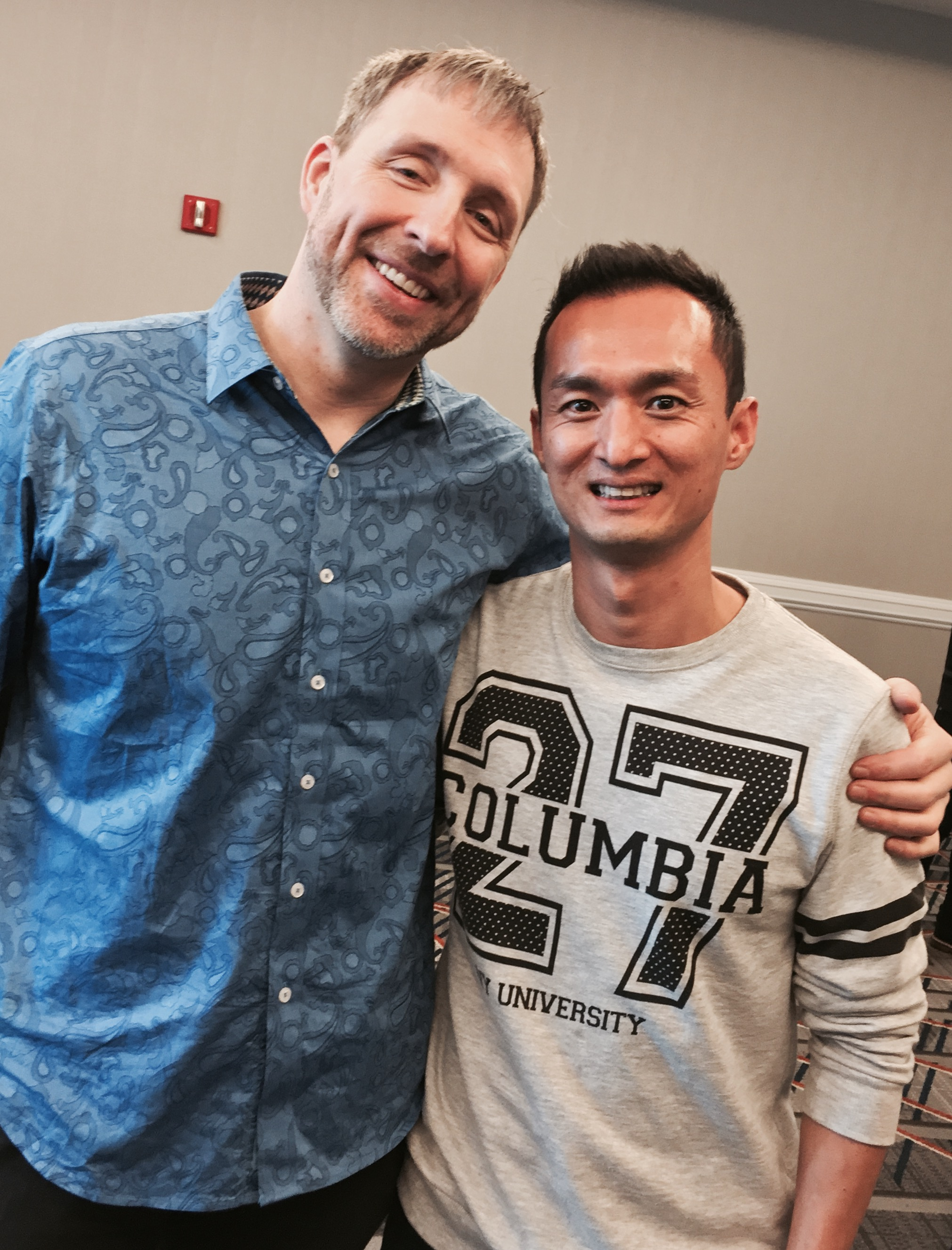 The organiser of Bulletproof Living in Melbourne with Dave Asprey