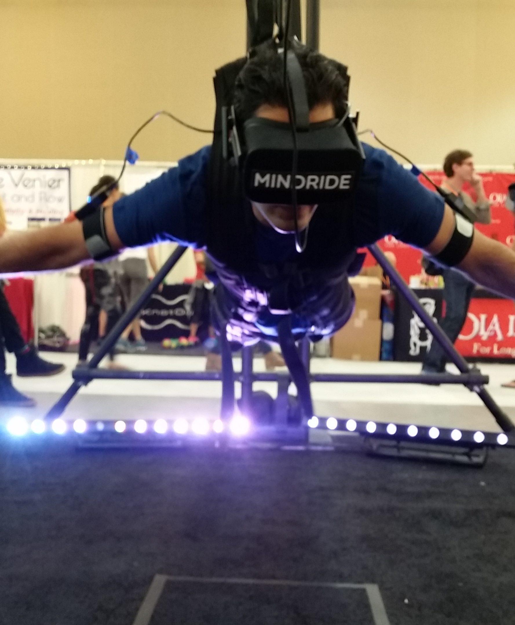 VR Flying Simulator at the Bulletproof Conference 2016