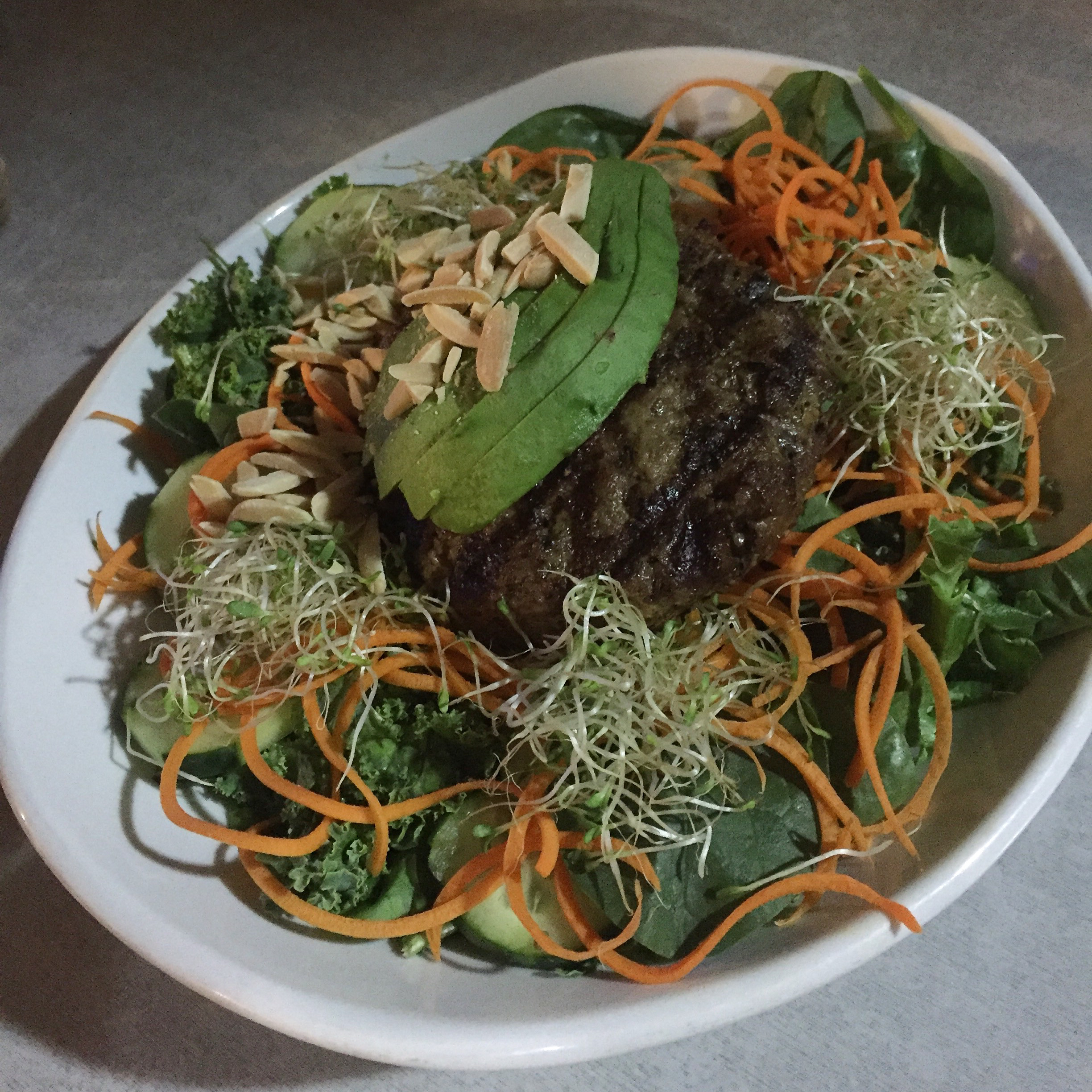 Bulletproof custom grass-fed beef salad