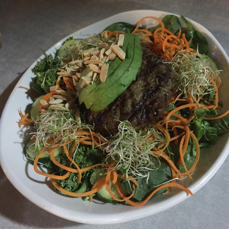 Bulletproof custom grass-fed beef salad