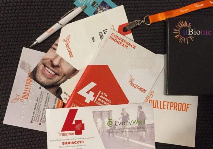 Bulletproof Biohacking Conference 2016 swag