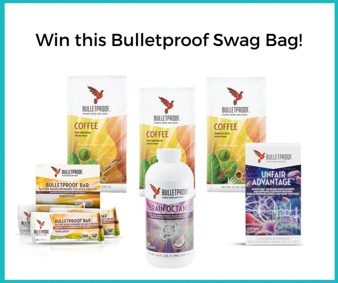 Bulletproof Giveaway of Upgraded Coffee Roasts (3), Vanilla Max Collagen Protein Bars, Brain Octane Oil and Unfair Advantage in Australia!